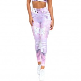 Ladies Slim Leggings For Fitness High Waist Workout Pants Elastic Quick Dry Active Wear