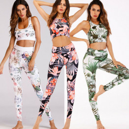New 2 Piece Yoga Sets Women's Sportswear Fitness Gym Wear Running Clothes Workout Tank Top Leggings Sport Clothing Activewear Available Sizes S-XL