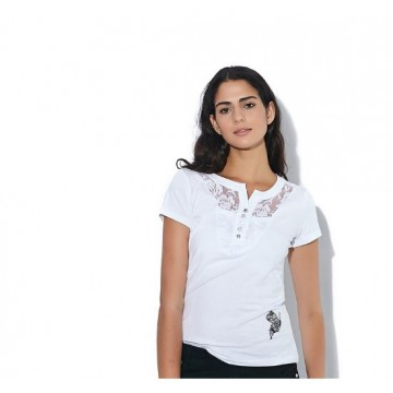 New Womens Fashion T-Shirts V-Neck Slim Short Sleeve Print Casual Lace Cotton White Plus Size Tops32323704984