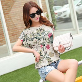 Floral Print Women's Blouses ladies Shirts Summer Tops Casual Plus Size Blouse Shirt Fashion