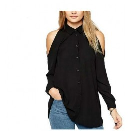 Hot Designer Fashion Autumn Blouses Off Shoulder Shirts Long Sleeve Lapel Casual Loose Women Shirts Plus Size Women Tops Sizes S Thru 5XL