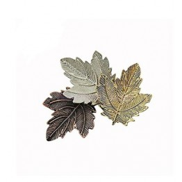 Fashion High End Tricolor Maple Leaf Royal Lapel Alloy Brooch For Women