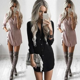 Sexy Womens High Fashion Autumn Blouses Long Sleeve Body Shirt Cotton Formal Blouse Available In Colors Black And Khaki