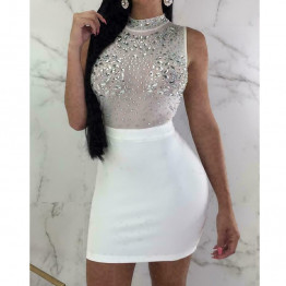 Sexy Women's Evening Party Dress Bandage Sleeveless Clubwear Ladies Short Slim Fit Mini Available Sizes S-XL