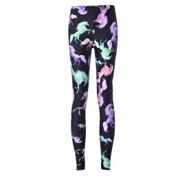 Ladies New Hot Seller Unicorn Design Active Wear Work Out Pants For All Seasons Sizes S thru Plus 4XL Excellent Quality