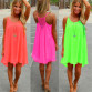 2020 Hot Fluorescent Colors Beach Dress Summer Dress Casual Dress Summer Clothing Available Sizes S-M-L- XL- XXL- XXXL