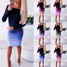 2020 Sleek Women's Casual Dress Long Sleeve Hot Mini Dress Sizes S-XXXL Available In 6 Colors To Choose From