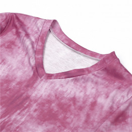Trending Women's Summer T-Shirt Style Tie Dyeing Short Sleeve Loose Beach And Fun Dress Available Sizes S-XXL