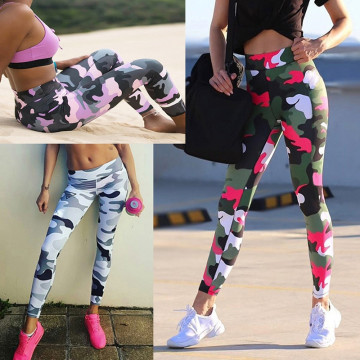 Workout Sexy Leggings Sport Women's Push Up Fitness Activewear Camouflage Available Size S-XL
