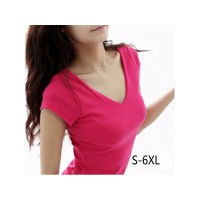 Cute Womens Casual Tops Cotton Short Sleeve T-Shirt  Available In 4 Colors Sizes S Thru 6XL